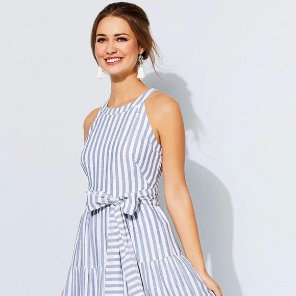 aebb286658a 🦋Eliza J Tiered Tassel Fringe Cotton Maxi Dress